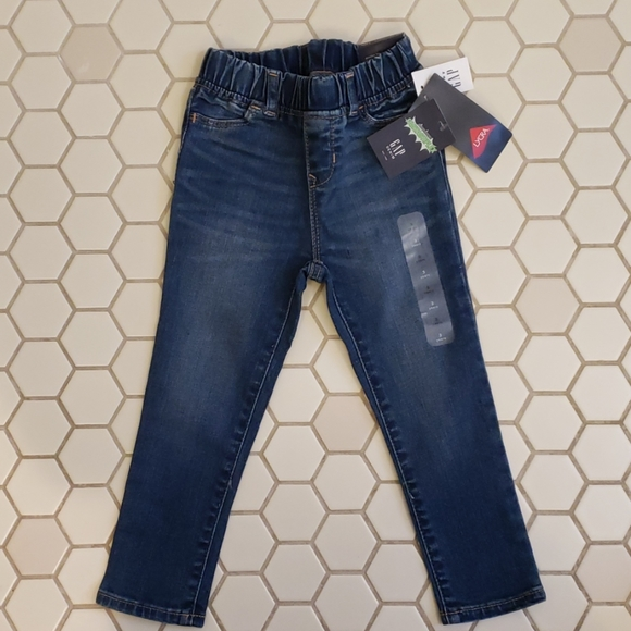 Toddler Girl 18-24 Month Baby Gap Pink Floral Pull On High Stretch Jegging Jeans